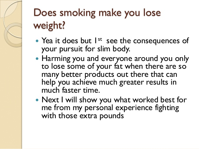 do cigarettes make you lose weight photo - 1