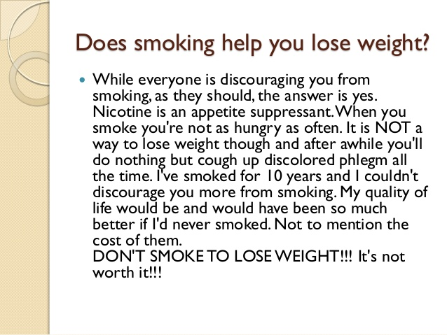 does smoking weed make you lose weight photo - 1