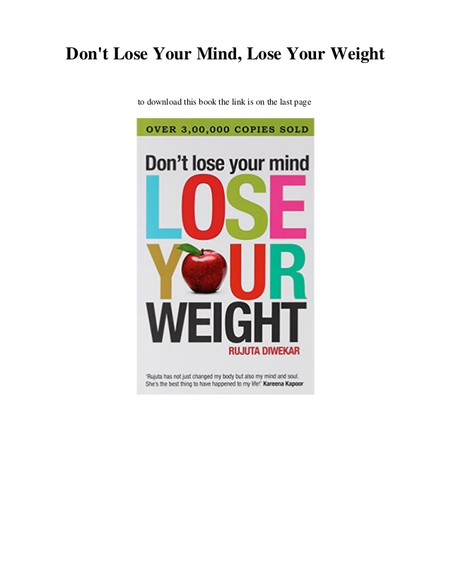 dont lose your mind lose your weight pdf photo - 1