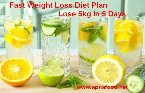 fast weight loss diet plan lose 5kg in 5 days photo - 1