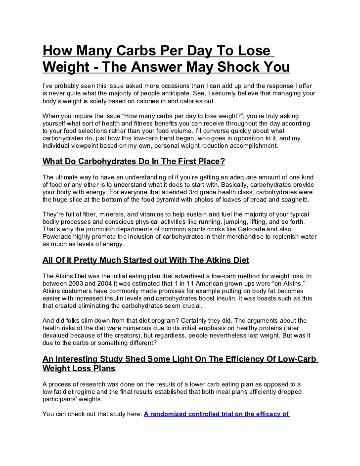how many grams of carb per day to lose weight photo - 1