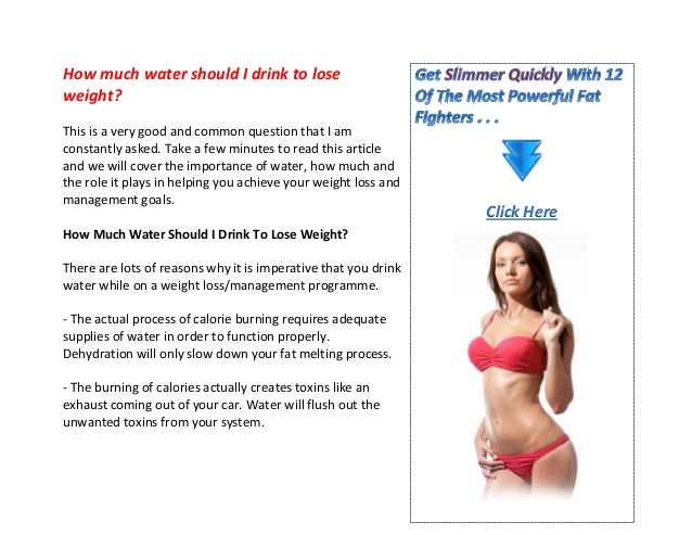 how much water should you drink in a day to lose weight photo - 1