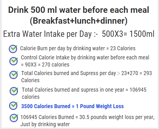 how much water to drink per day to lose weight photo - 1