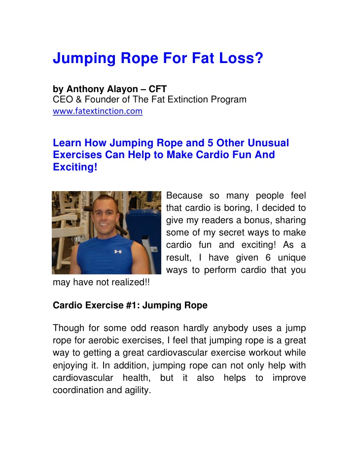 how to jump rope to lose weight photo - 1