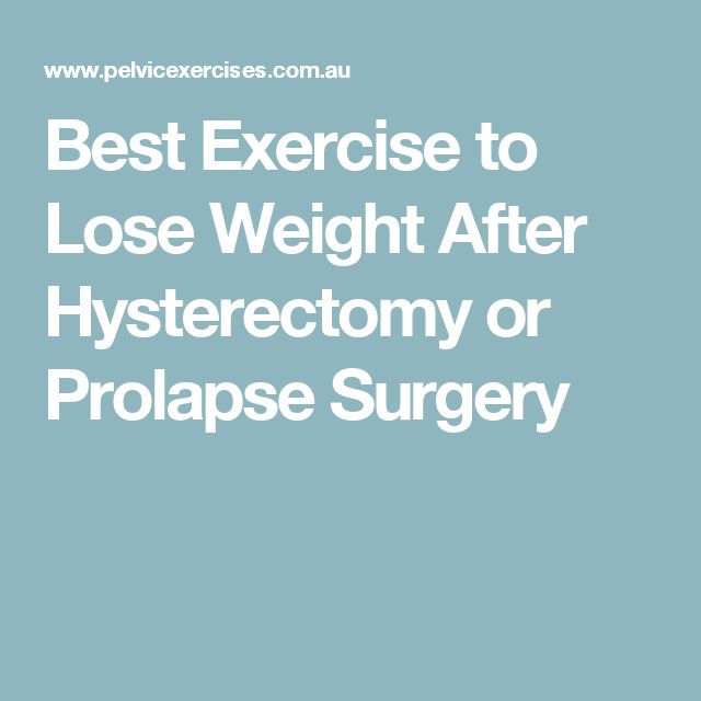 how to lose weight after a hysterectomy photo - 1