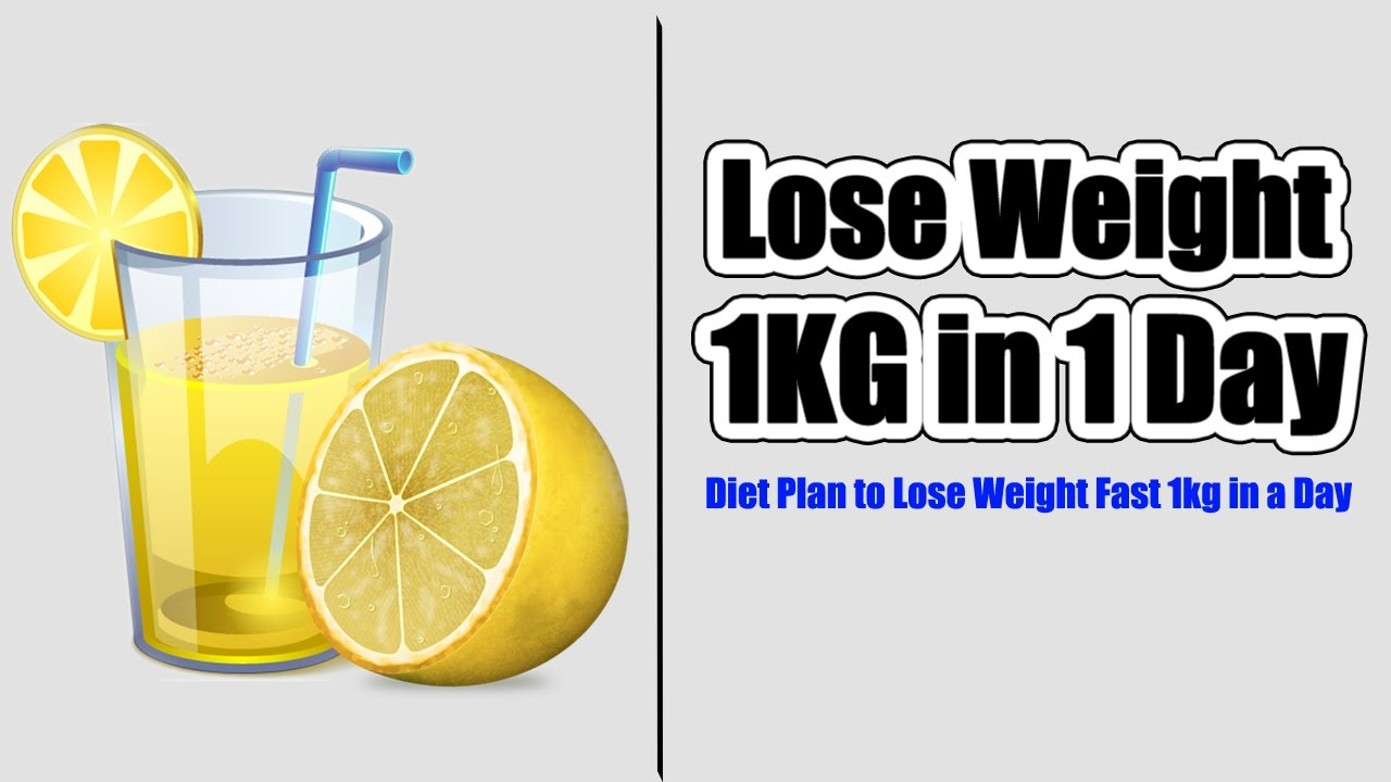 how to lose weight in 1 day photo - 1