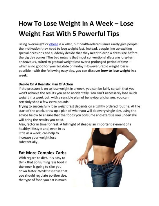 lose weight in 5 weeks photo - 1