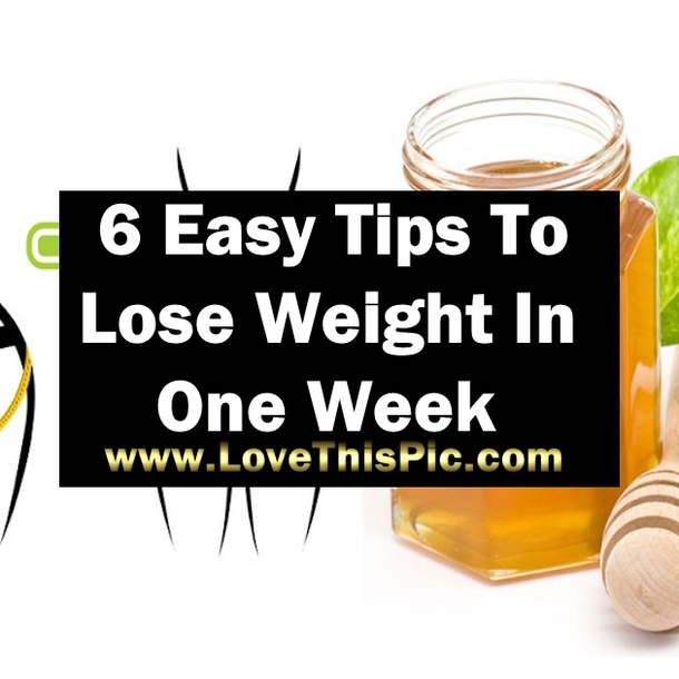 lose weight in one week photo - 1