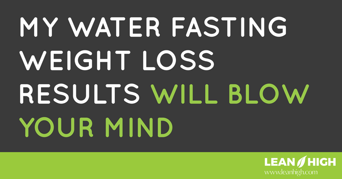 lose weight water fasting photo - 1