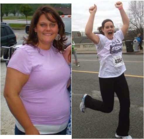running to lose weight before and after photo - 1