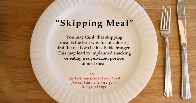 skipping meals to lose weight photo - 1