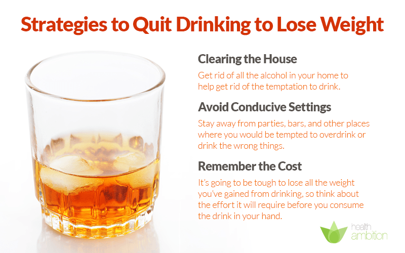 stop drinking alcohol lose weight photo - 1