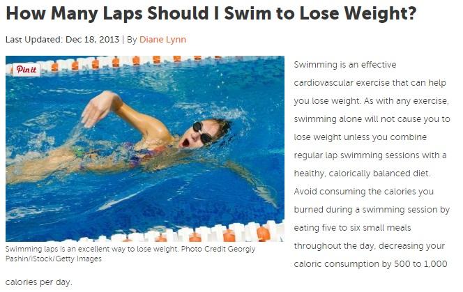 swim routine to lose weight photo - 1