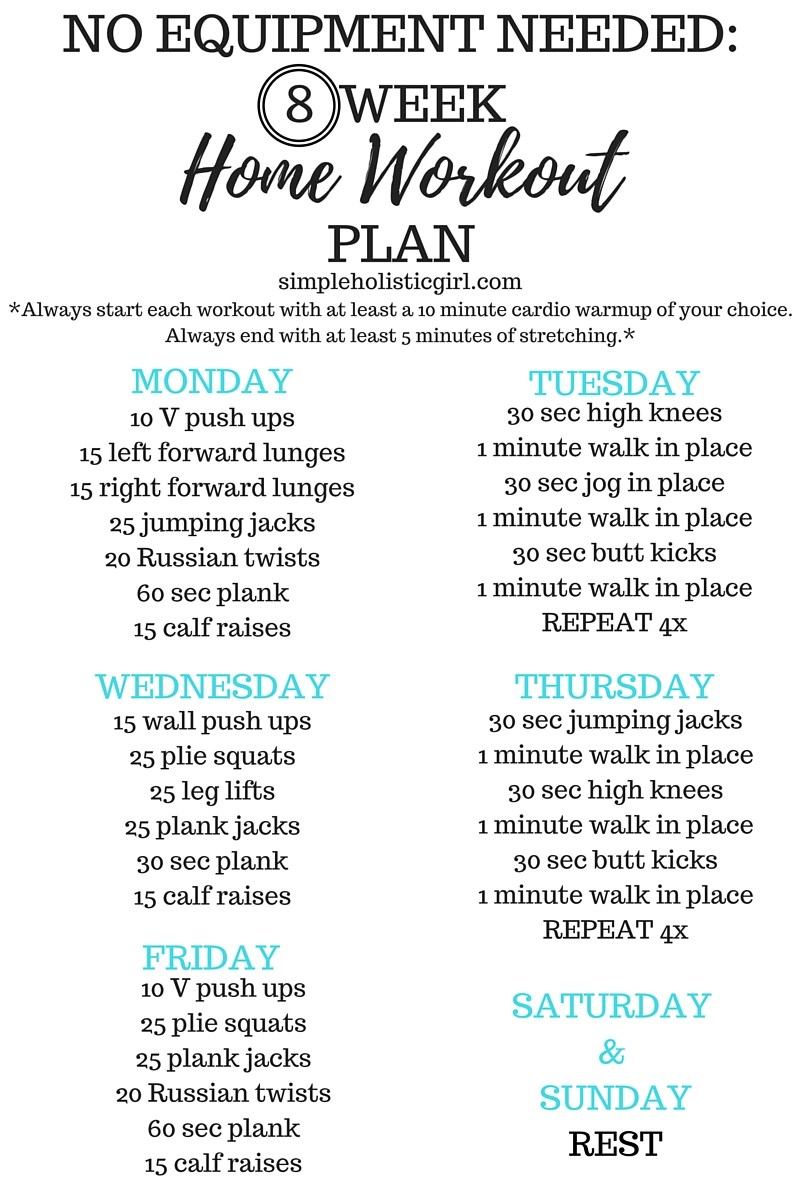 weekly exercise plan to lose weight photo - 1
