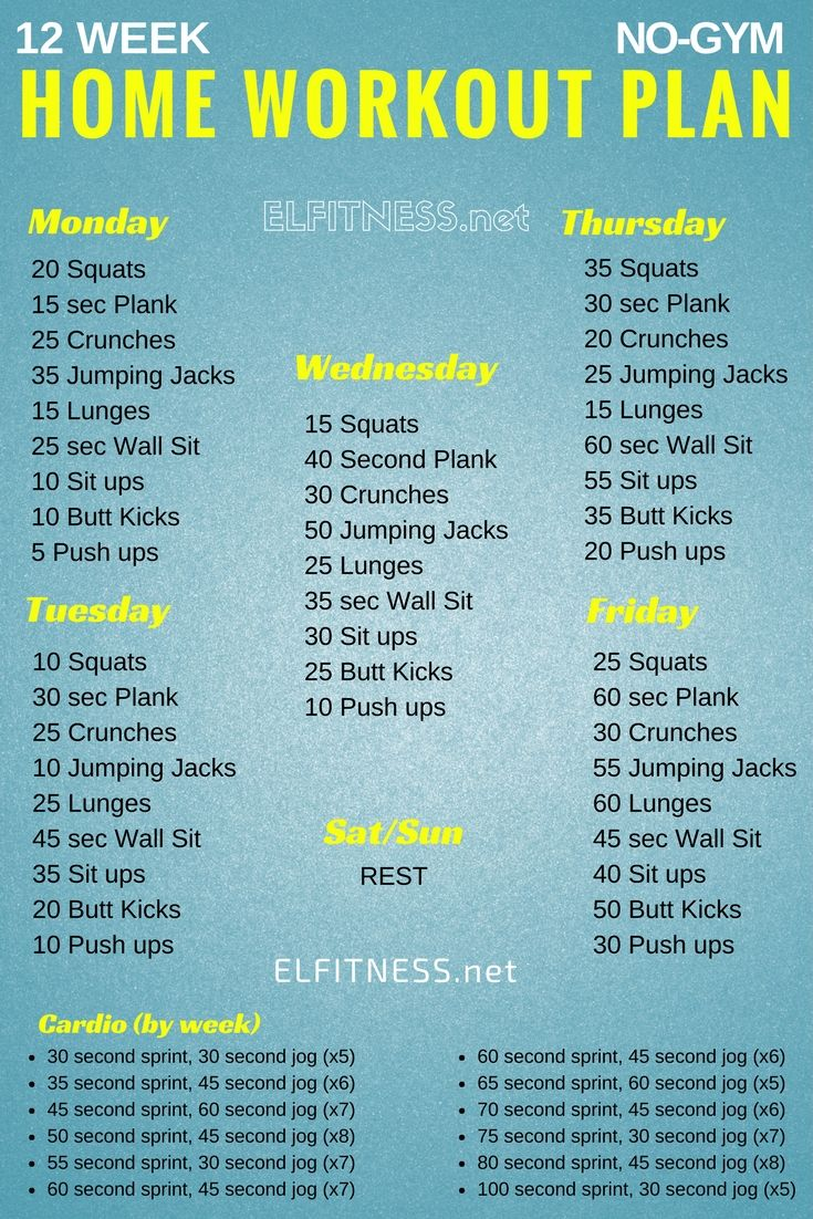 weekly workout plans to lose weight photo - 1